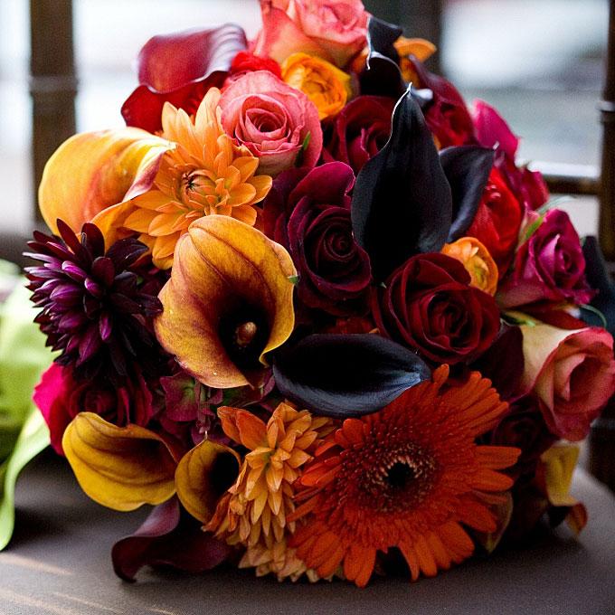Rich Fall Wedding Bouquet Wedding Flowers Photos Bridescom HD 680x680