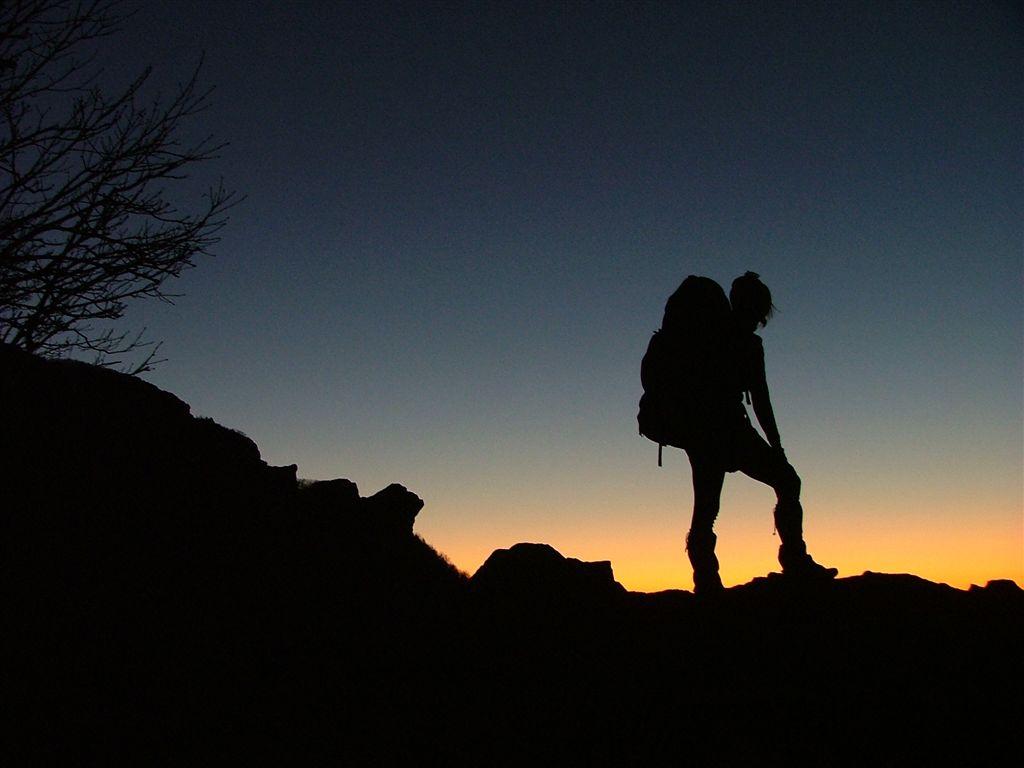 hiking silhouette desktop wallpaper - photo #7