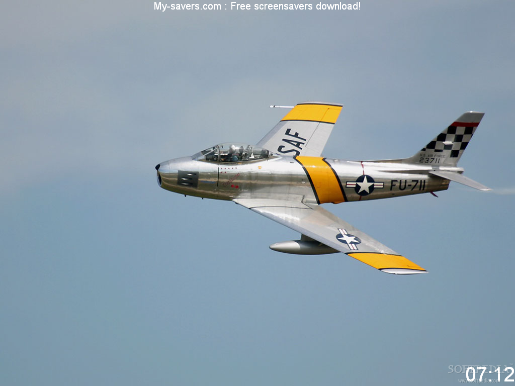 Aircraft Screensaver screenshot 1   With this screensaver you 1024x768