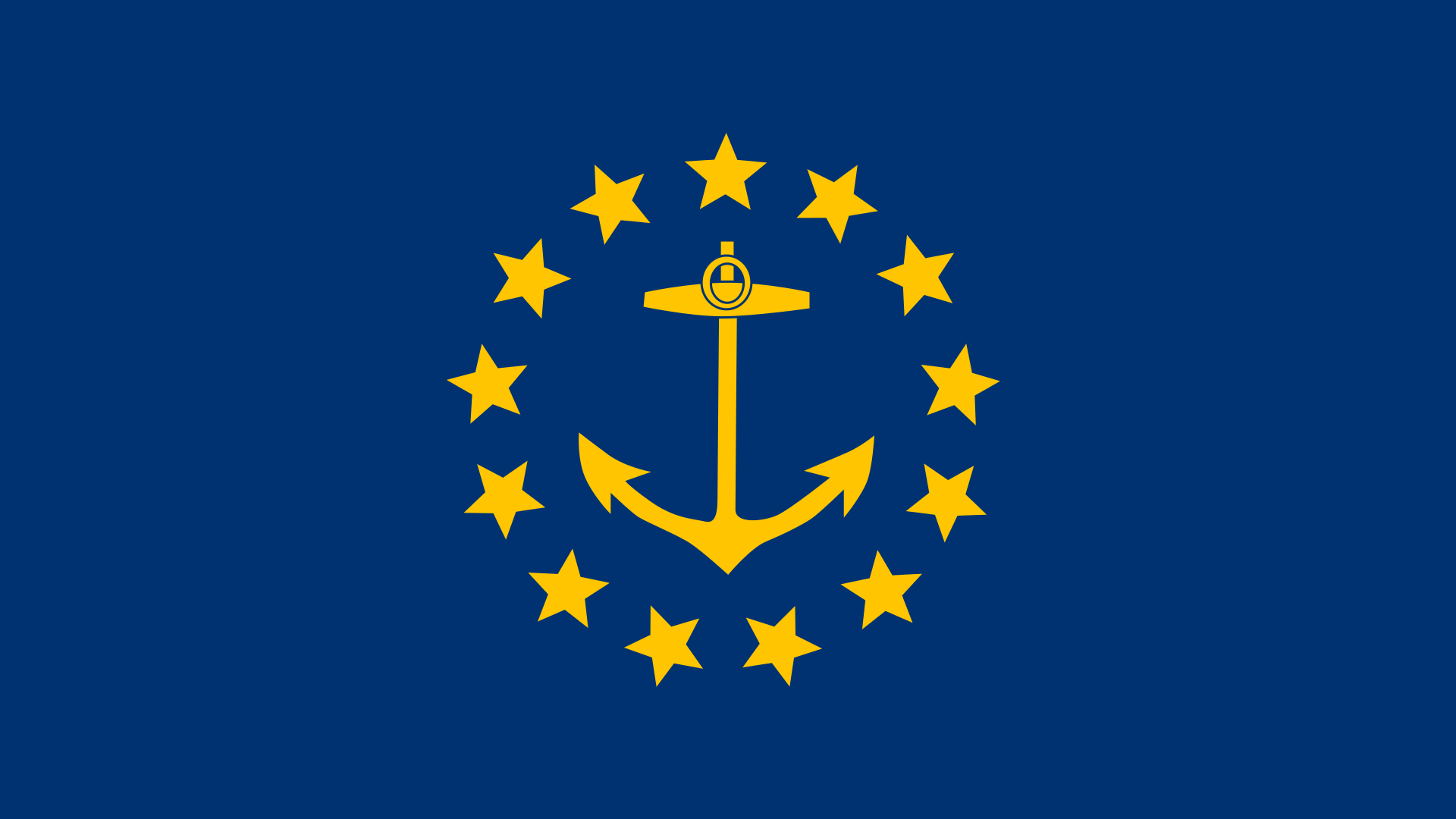 I made a wallpaper of the old Rhode Island flag 1080p RhodeIsland 1920x1080