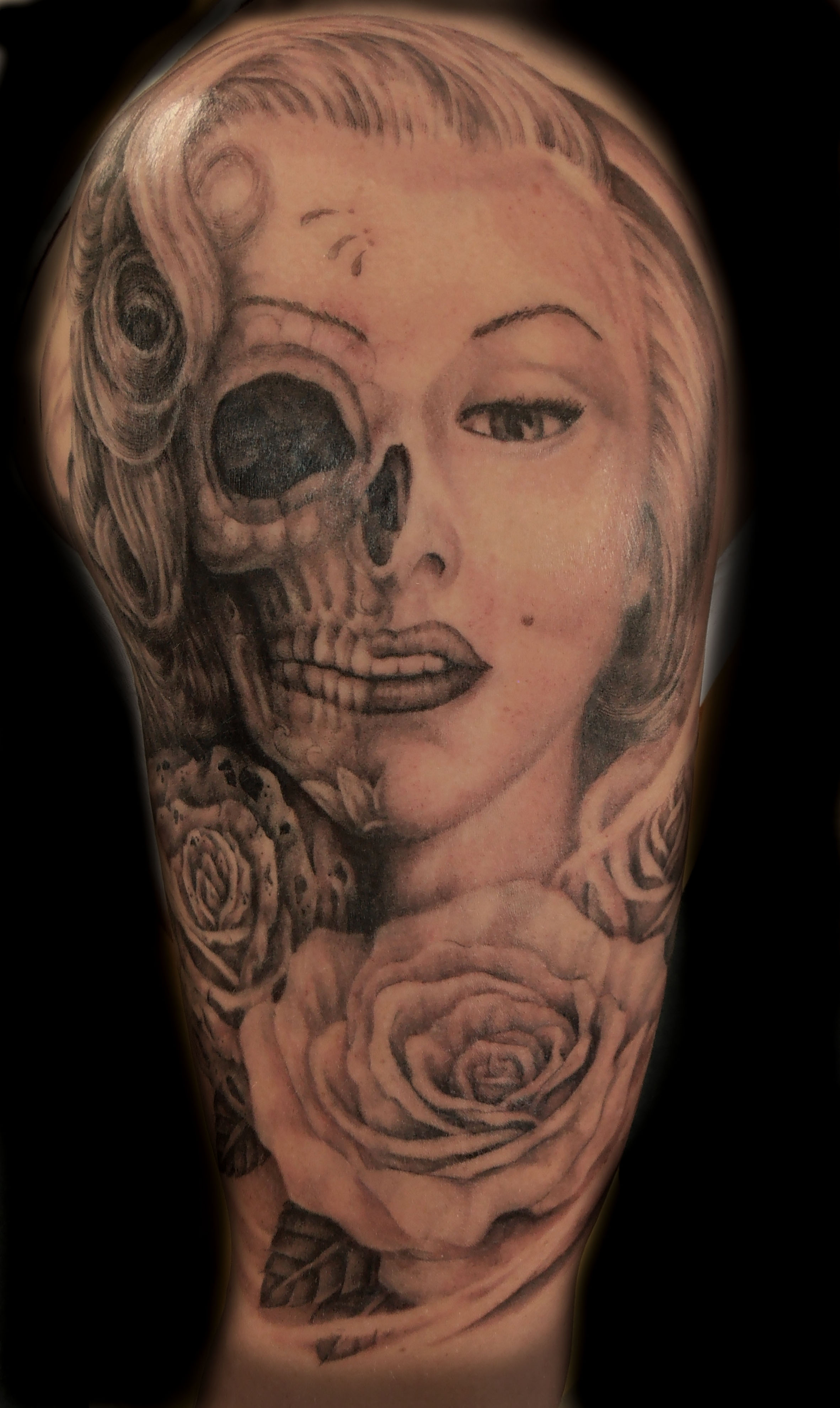 45+] Tattooed Marilyn Monroe Wallpaper on WallpaperSafari