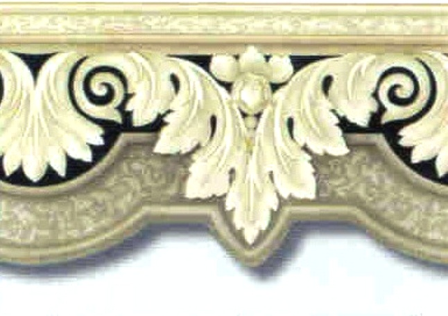 wallpaper border on Crown Moulding Ornamental Leaf Discount Wallpaper 646x457