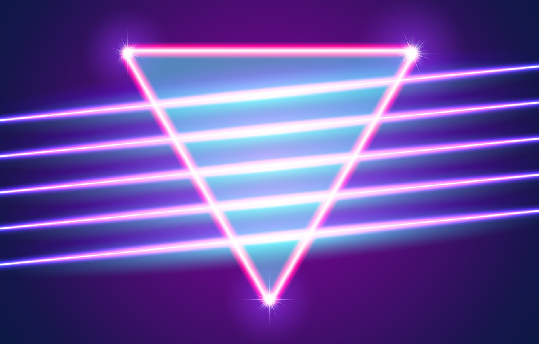 Wallpaper Music Neon Background Triangle Electronic Shine 1332x850
