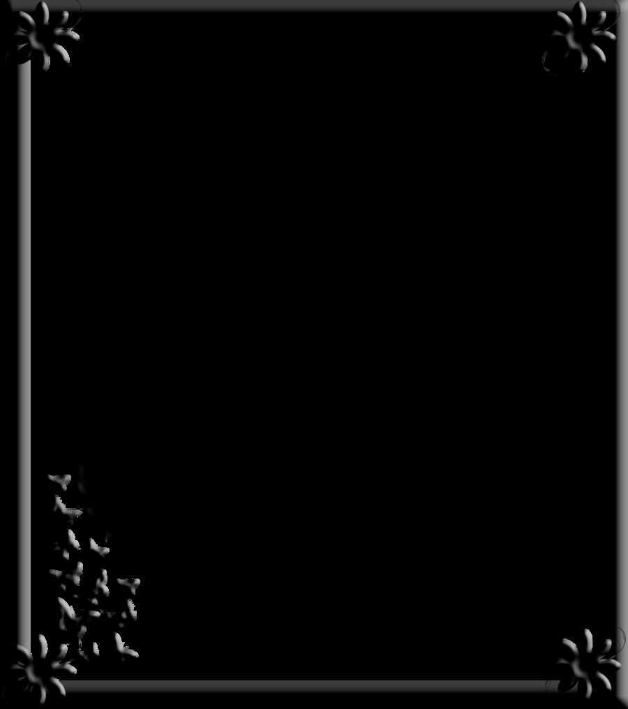 gothic border flowers by spidergypsy 900x1016
