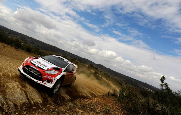 Wallpaper ford fiesta car rally wrc rotating sports sky clouds 596x380
