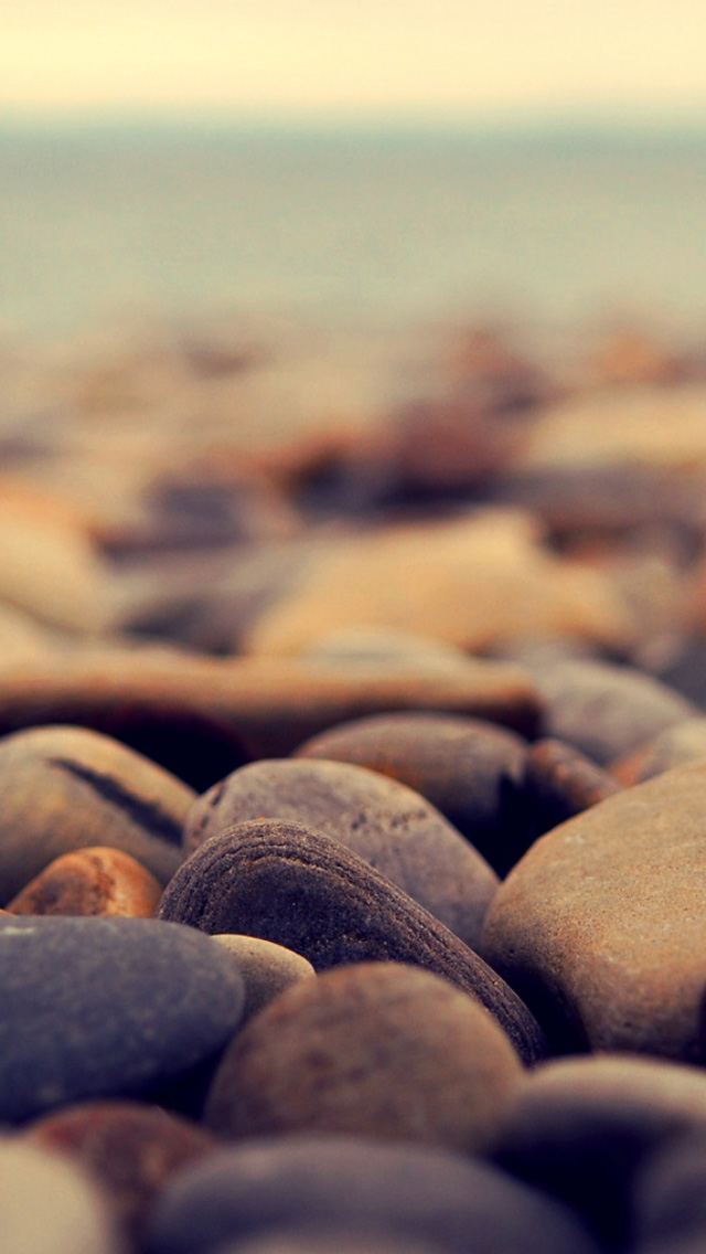 Stone beach iPhone Wallpapers Download 640x1136