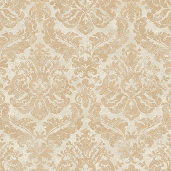 Gold and Cream Feathery Damask Wallpaper   Wall Sticker Outlet 600x600
