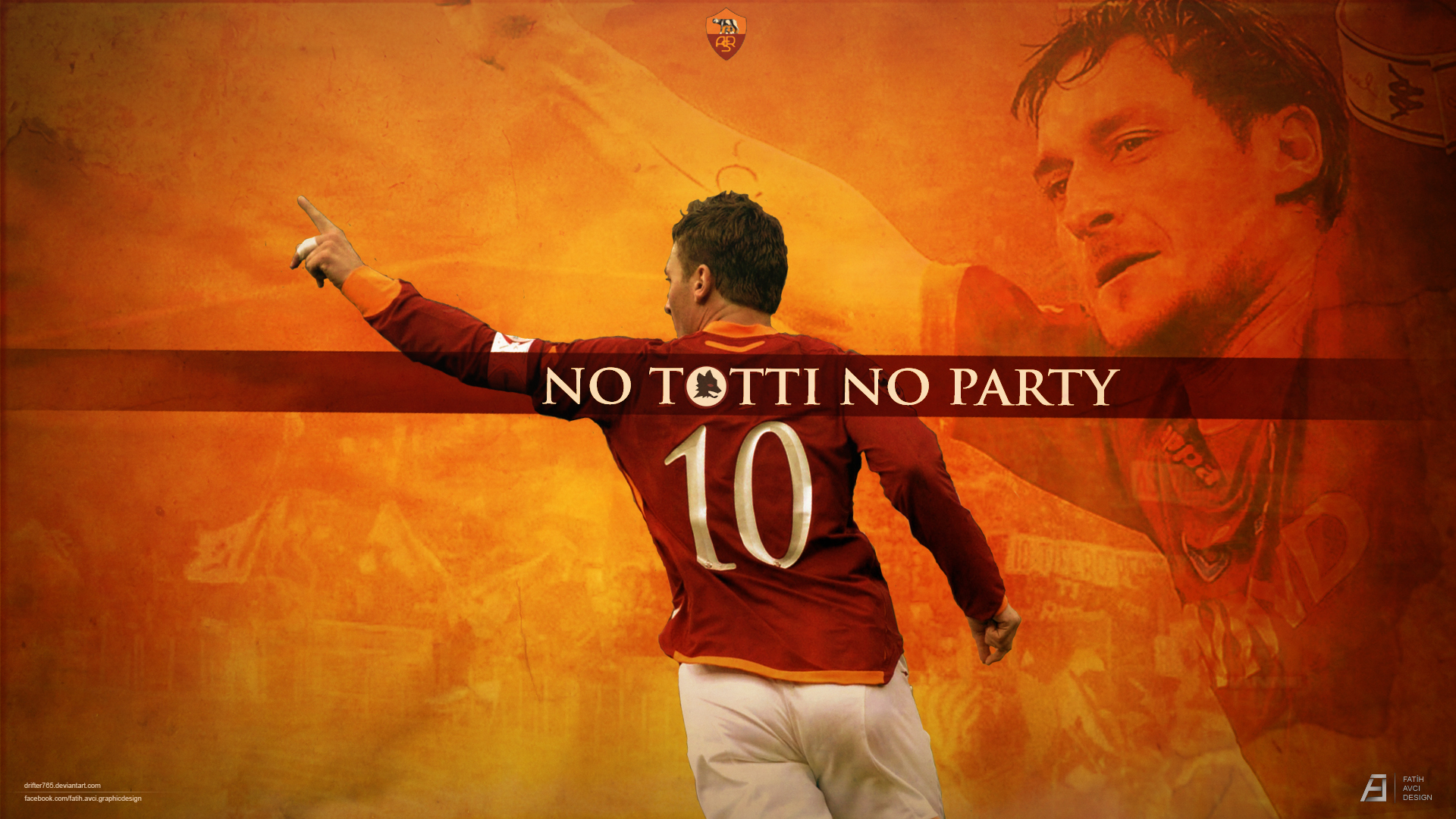 Francesco Totti As Roma Wallpapers 1920x1080