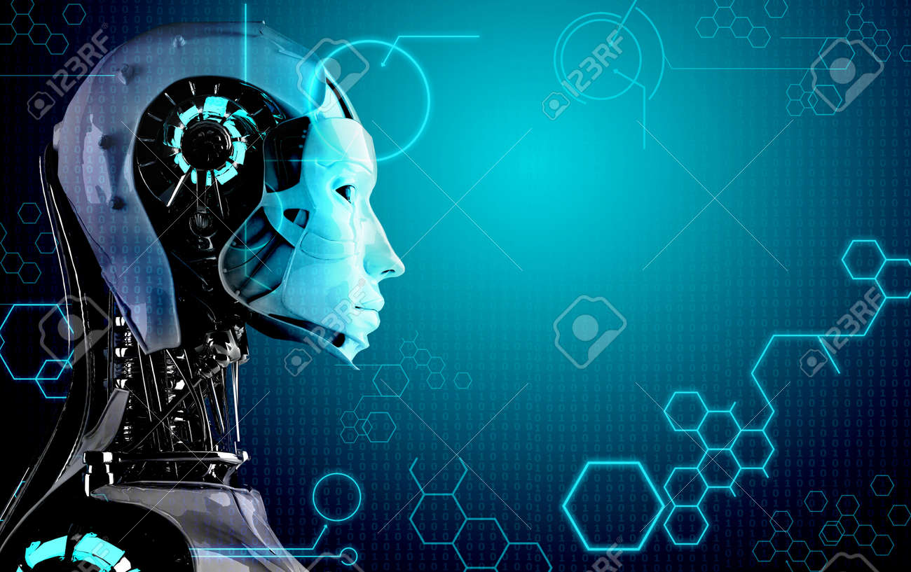 Computer Robot Background Stock Photo Picture And Royalty 1300x817