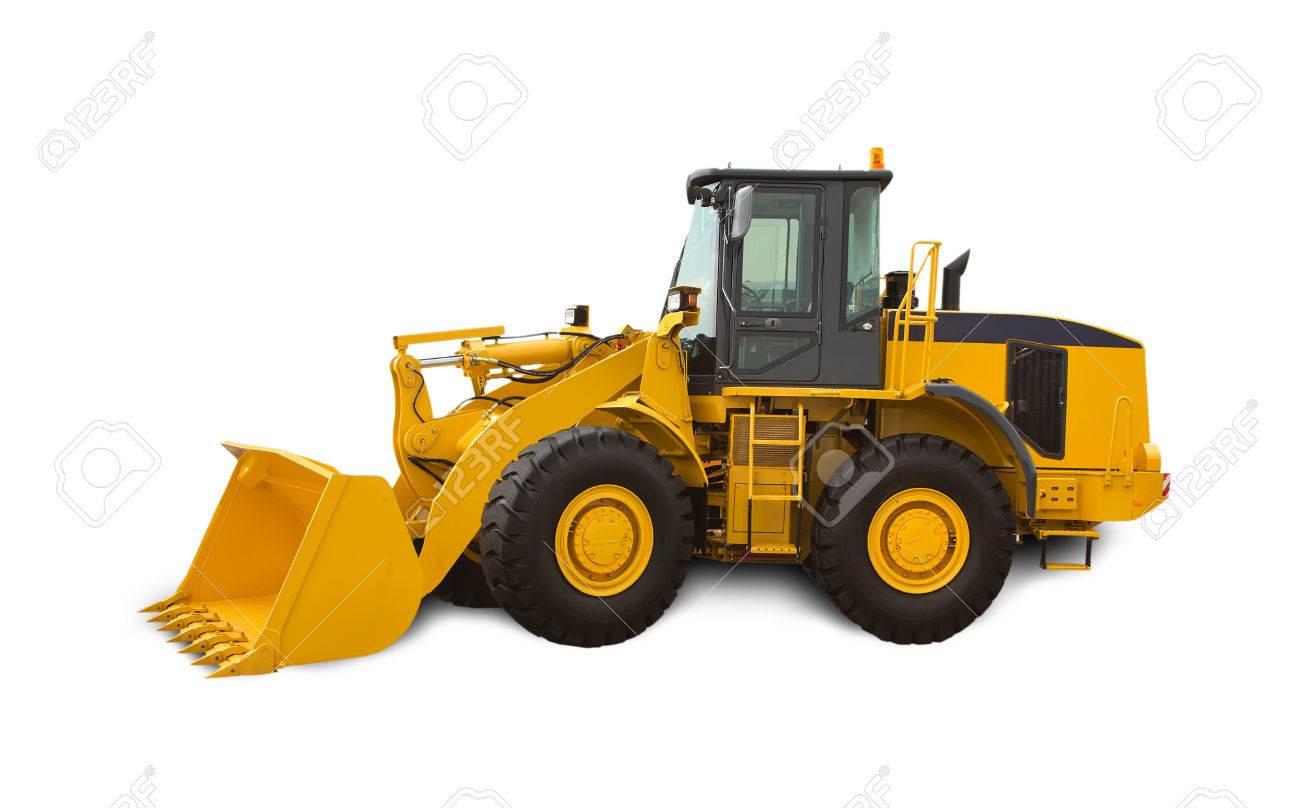 Yellow Bulldozer Over White Background Heavy Machinery Stock 1300x808