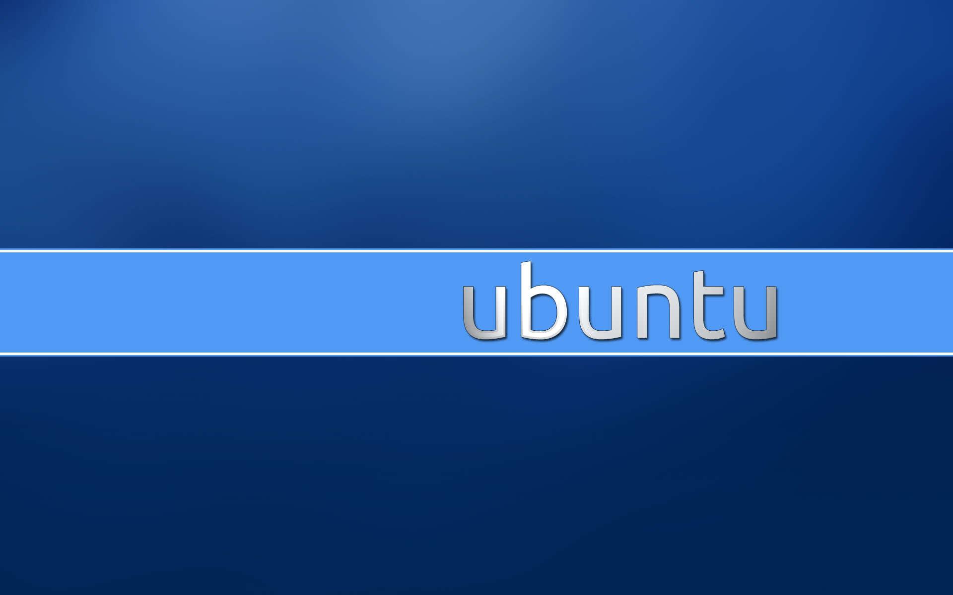 Blue Ubuntu wallpaper 38503 1920x1200