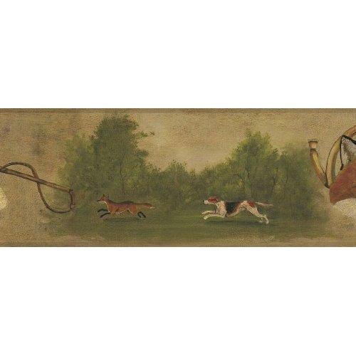 Fox Hunt Wallpaper Border in York Border Gallery Home 500x500