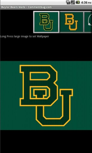 View bigger   Baylor Bears Wallpapers for Android screenshot 307x512