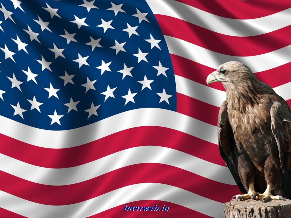 Thread American flag wallpaper 1024x768
