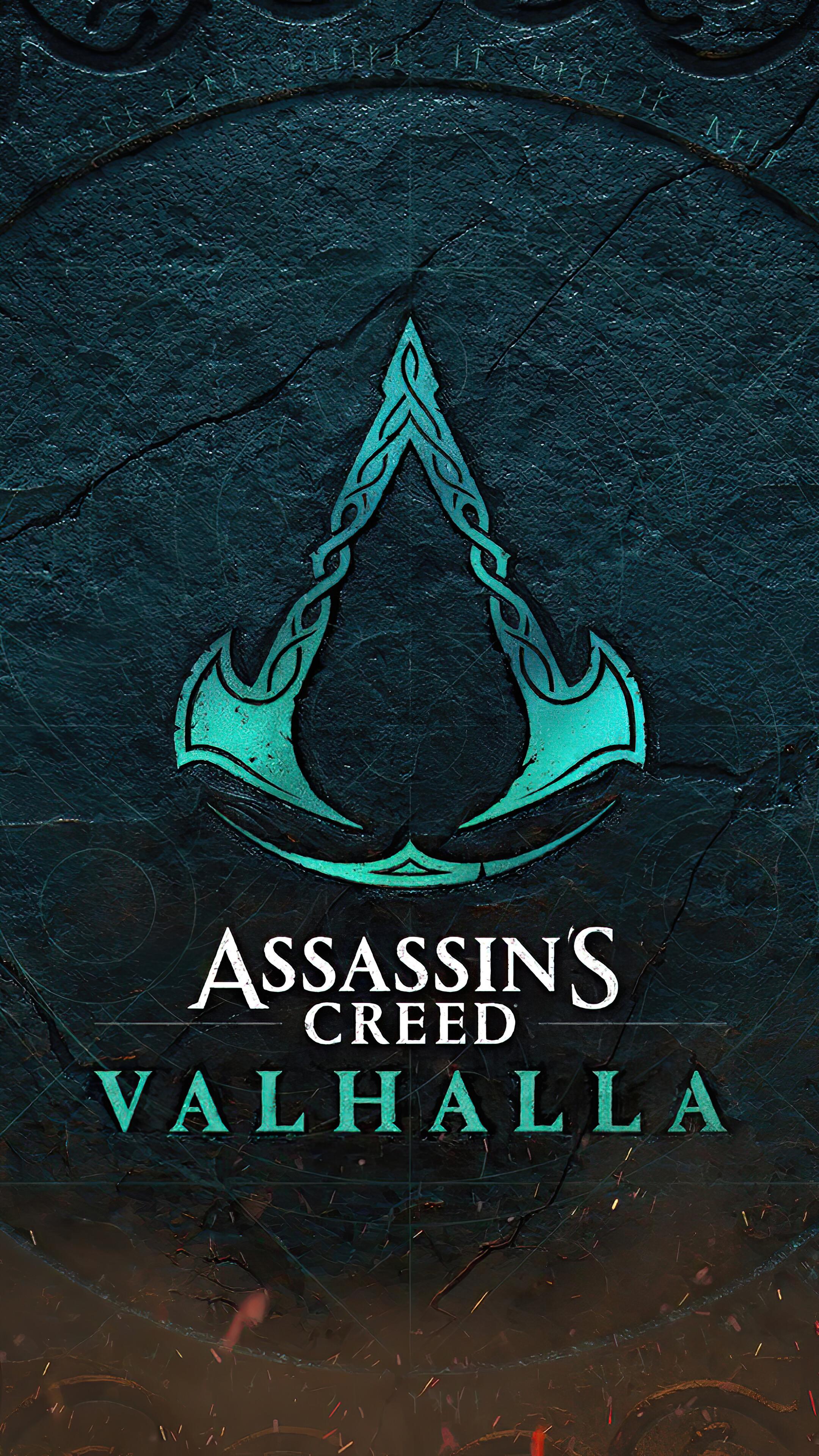 Assassins Creed Valhalla Logo 4K Wallpaper 71963 2160x3840