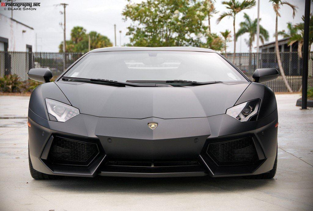 Just Love Cars Matte Black Lamborghini Aventador LP700 4 Wallpaper 1024x690