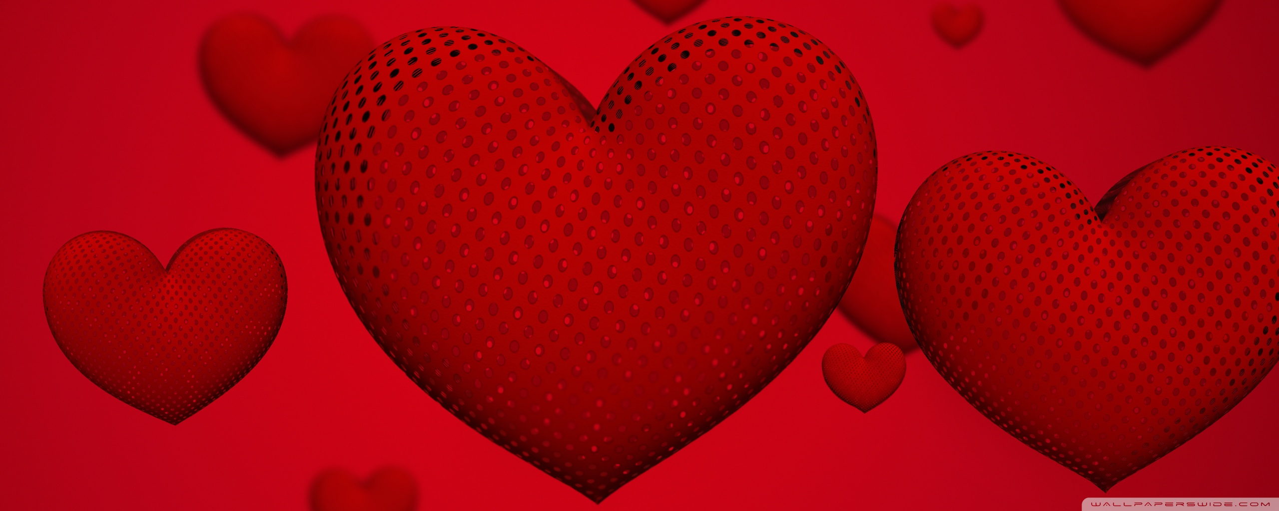 Valentines Day Hearts Ultra HD Desktop Background Wallpaper for 2560x1024