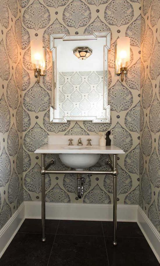 Create your own escape with great wallpaper for bathrooms 550x913