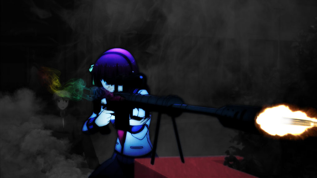 Anime Girl Sniper Rifle Wallpaper by Ultroxmga 1024x576