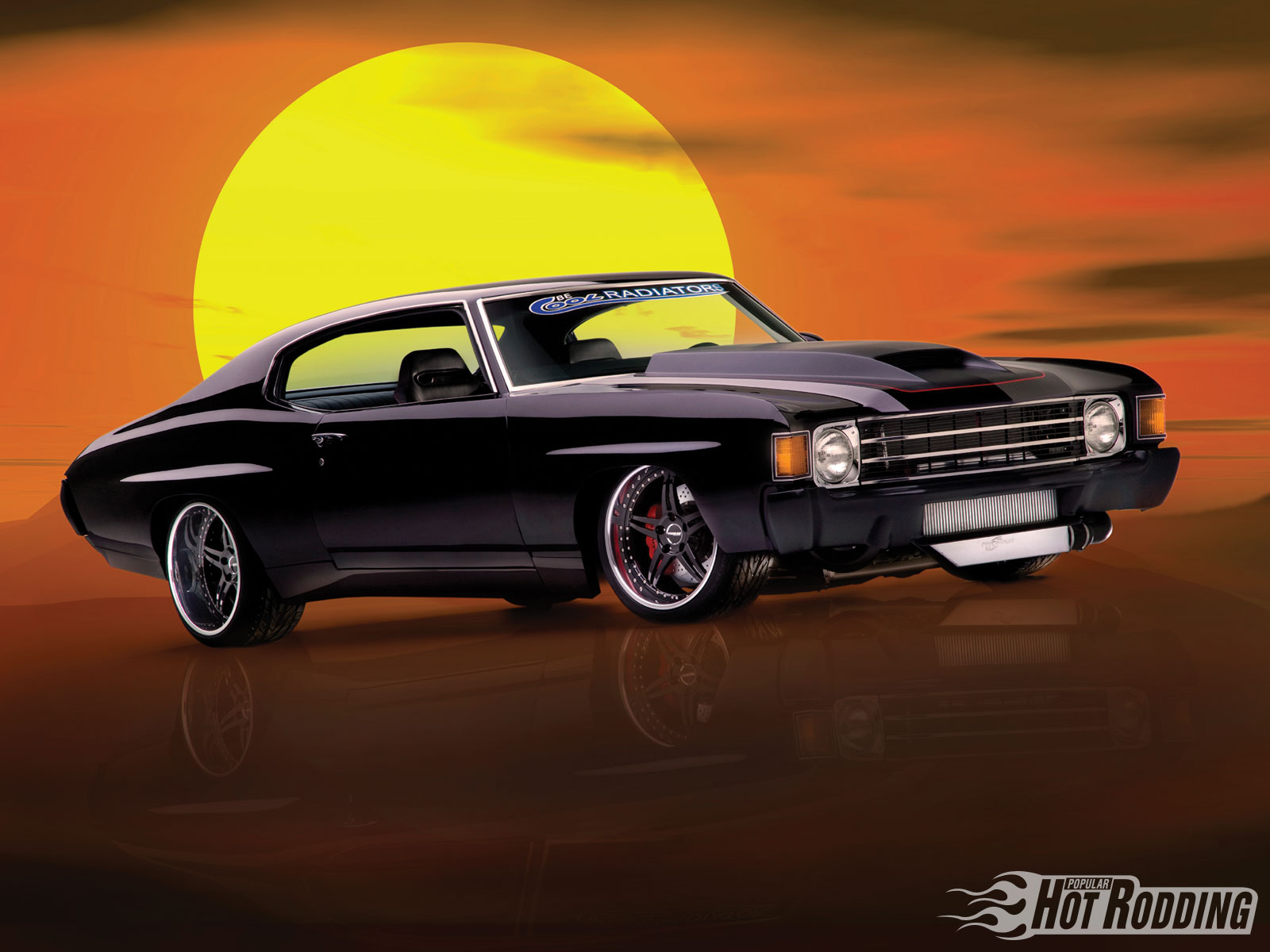 1972 Chevy Chevelle muscle cars hot rod wallpaper background 1600x1200