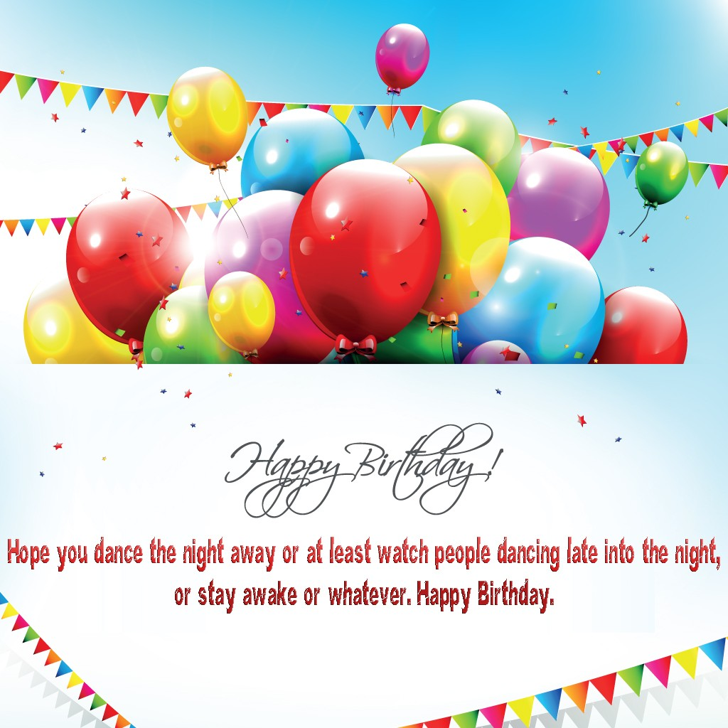 free greeting card happy birthday balloon quotes wallpaper Wallpaper 1024x1024