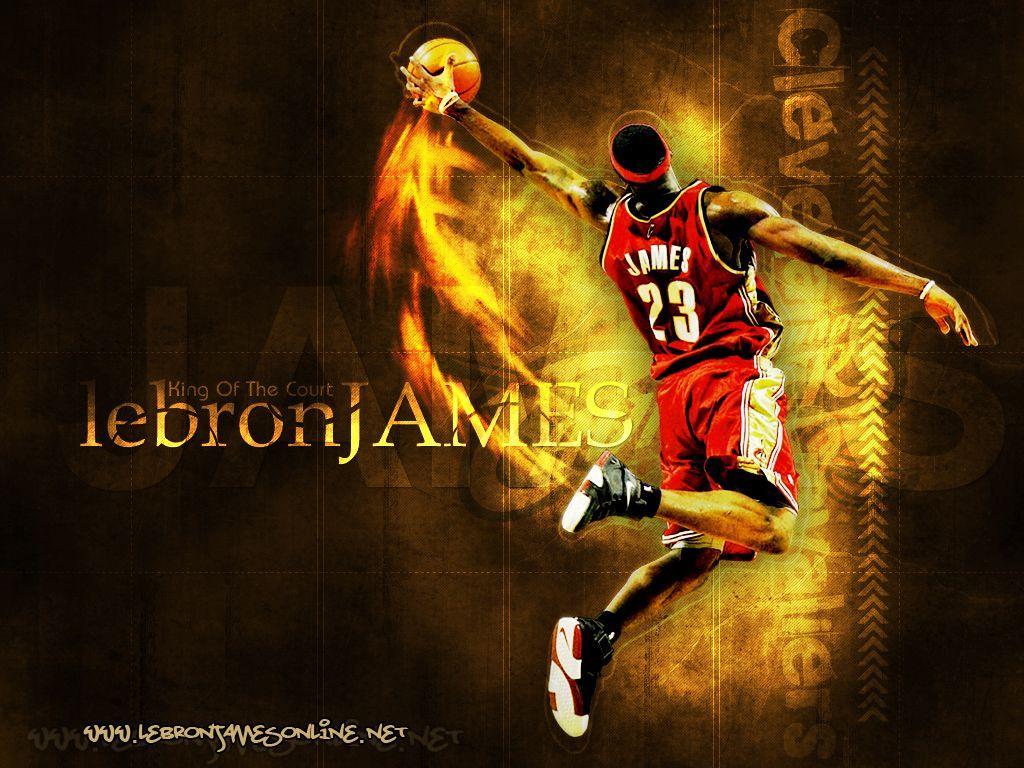 LeBron James Wallpaper Dunk   Best Wallpaper HD Lebron james 1024x768