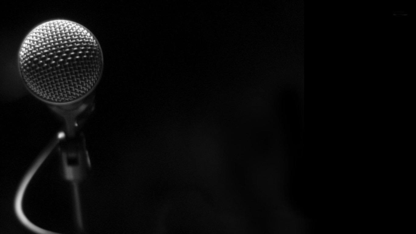 descriptif microphone fonds dcran thme de la musique courant 1366x768