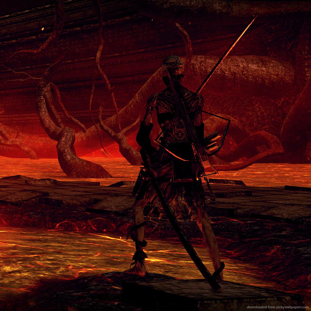 Dark Souls Tanning in Lava Pits for iPad 2 1024x1024