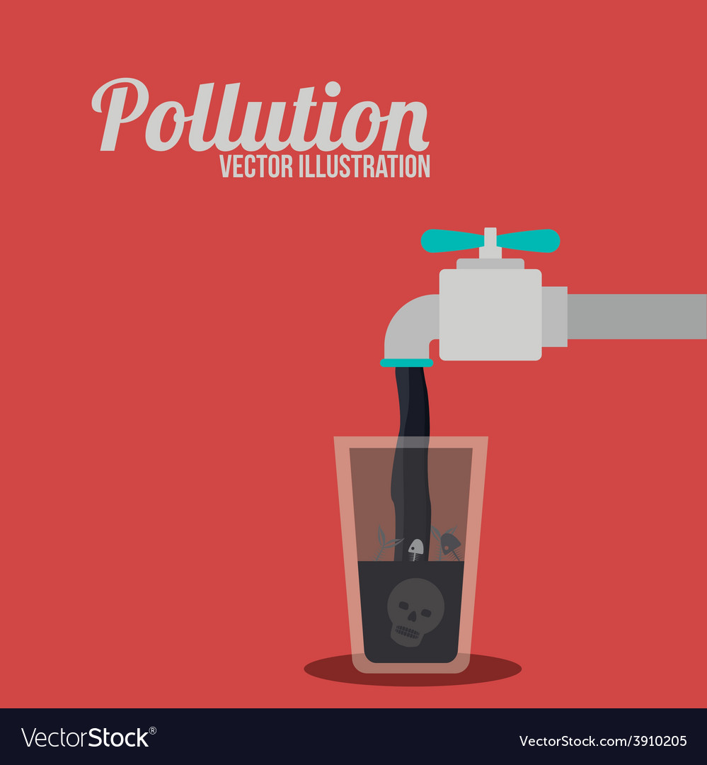 Pollution design over red background Royalty Vector 999x1080
