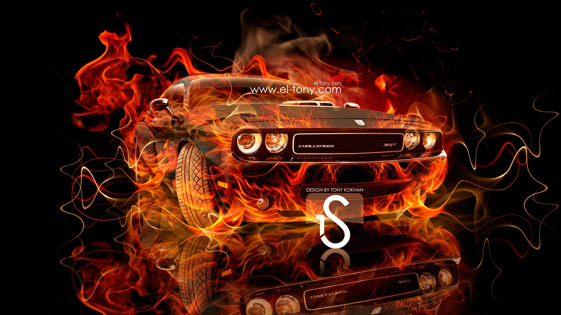 Lamborghini aventador side fire abstract car 2014 hd wallpapers design - Fire Muscle Car 2013 City Hd Wallpapers Design By Tony Car Pictures