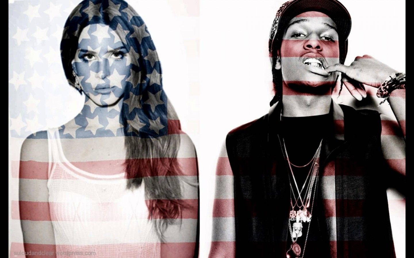 ASAP Rocky Flag with Girl Rap Wallpapers 1440x900