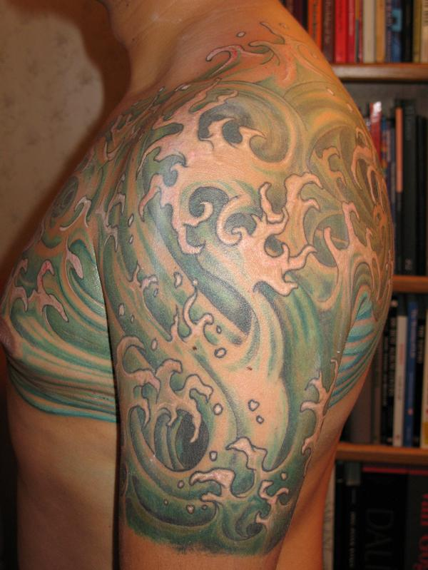 Japanese Waves Tattoo 600x799
