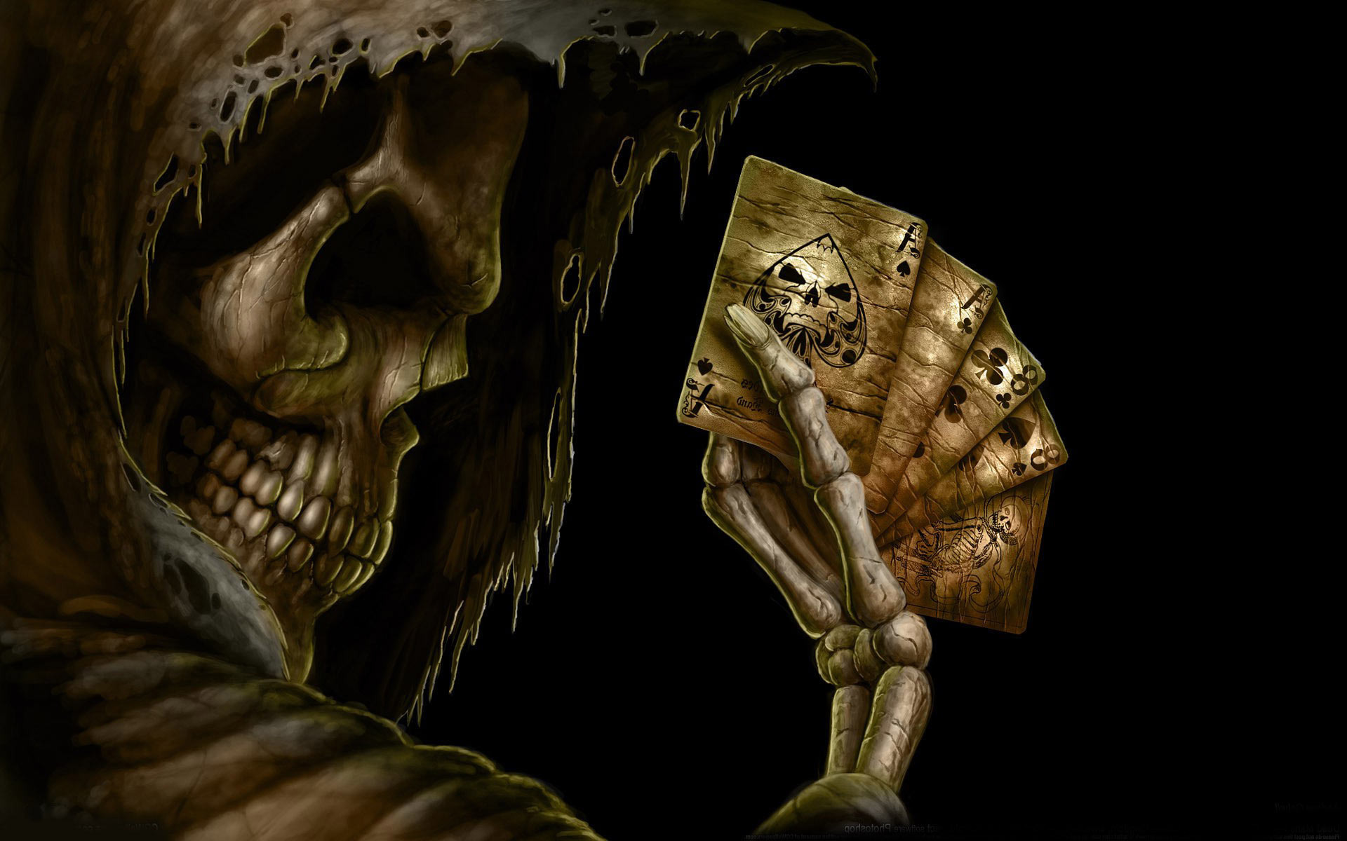 Horror Animated Wallpaper Free Download For Pc: Playing Cards Wallpaper 1920x1080