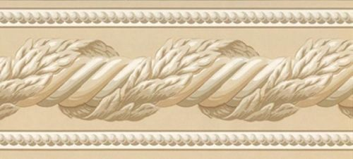 Architectual Crown Molding in Almond Wallpaper Border 500x226