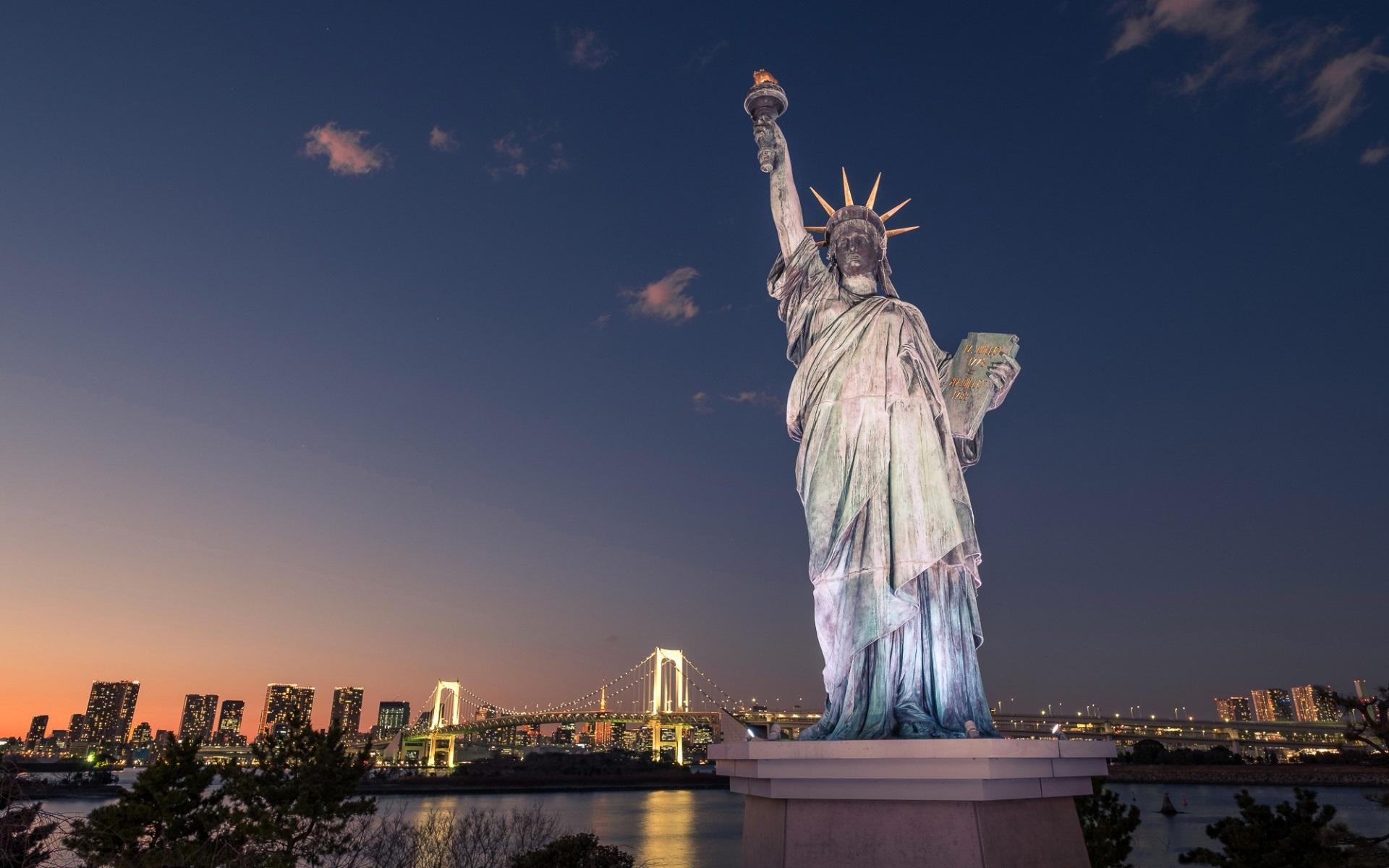 Wallpaper Odaiba Statue of Liberty Tokyo Japan 1920x1200 HD 1920x1200