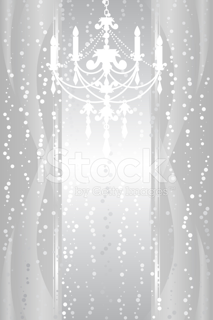 Silver Background With Chandelier Stock Vector   FreeImagescom 682x1024