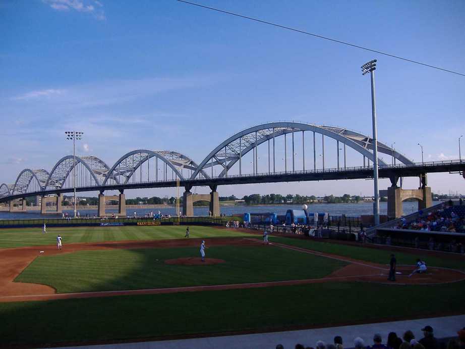 Davenport IA John ODonnell Stadium Inside Centennial Bridge in 922x691