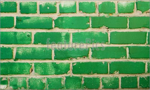 Picture of Green Brick Wall    green brick wall great as a background 500x301