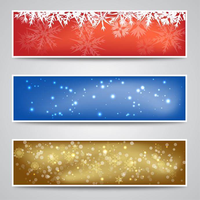 Christmas Banner Backgrounds   GreatVectors GreatVectors 690x690