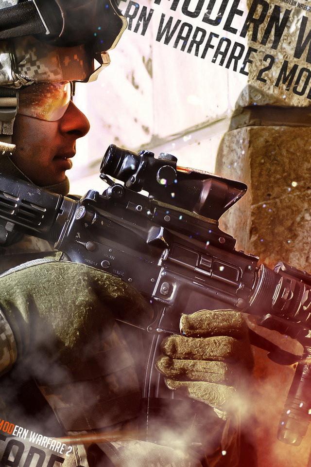 Call Of Duty Modern Warfare 2 Art Wallpaper IPhone Wallpapers 640x960