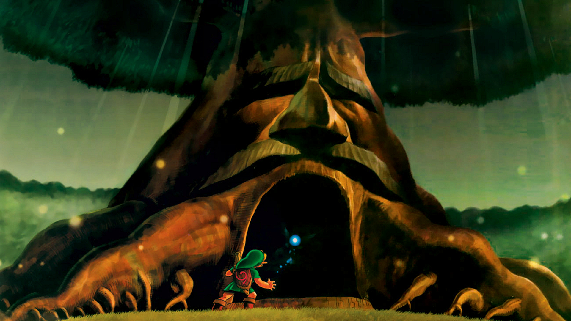 1920x1080 The Legend of Zelda Deku Tree desktop PC and Mac wallpaper 1920x1080