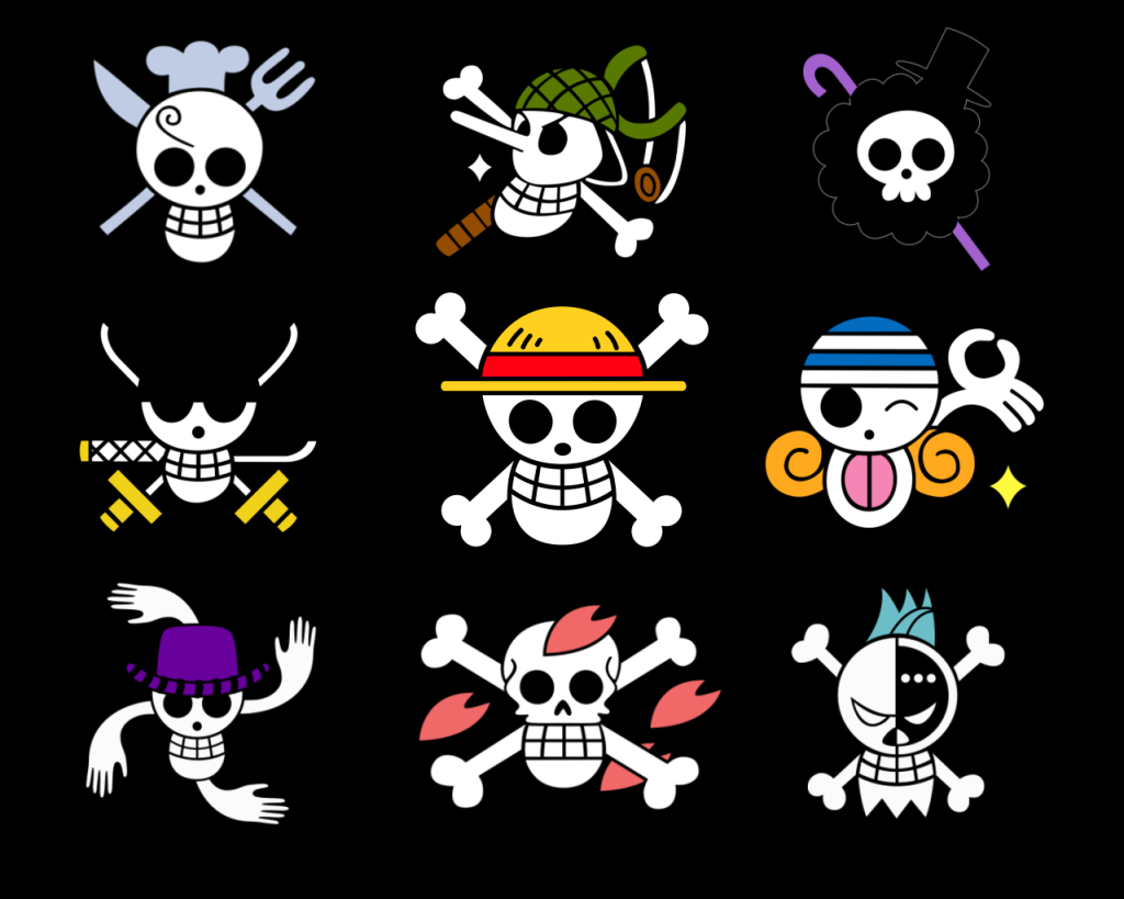 One Piece Pirate Flags Wallpaper picture 1024x819