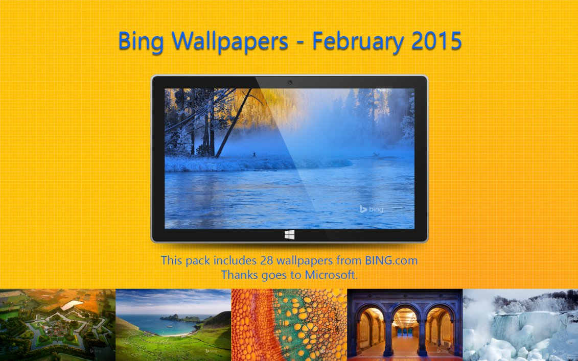Bing Wallpapers   February 2015 by Misaki2009 1131x707