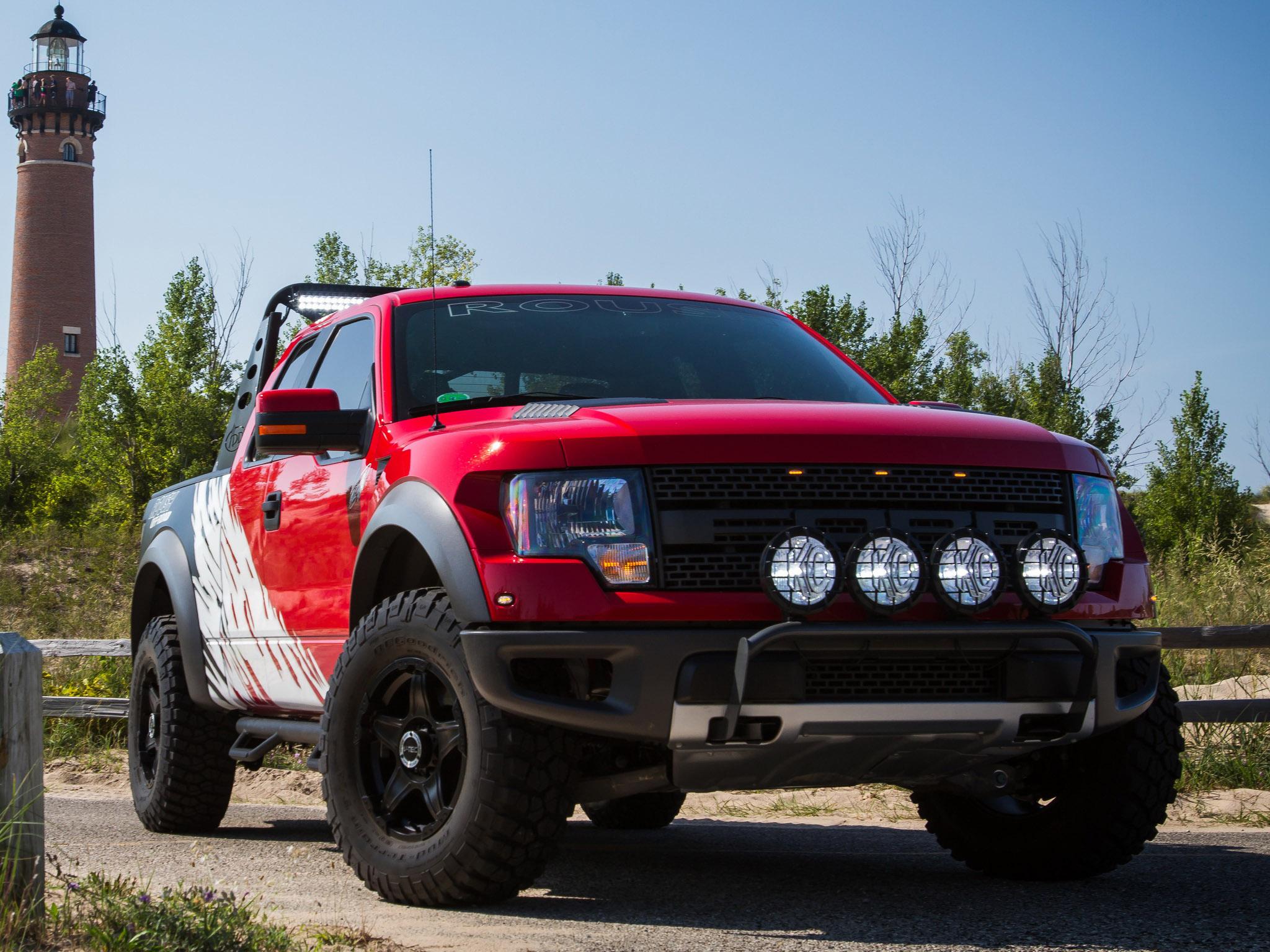 2012 Roush Ford F 150 SVT Raptor 4x4 muscle truck wallpaper background 2048x1536