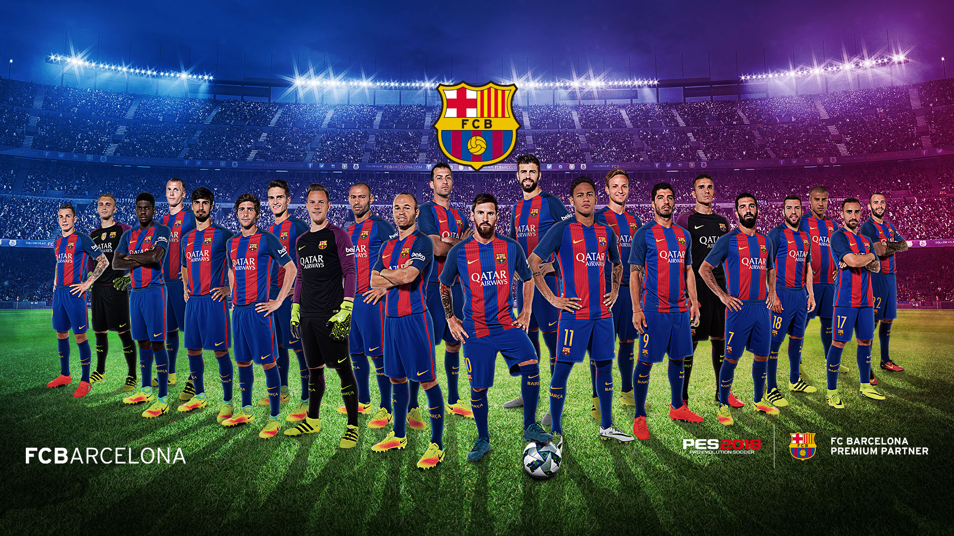Pro Evolution Soccer 2018 FC Barcelona Theme Game 1920x1080