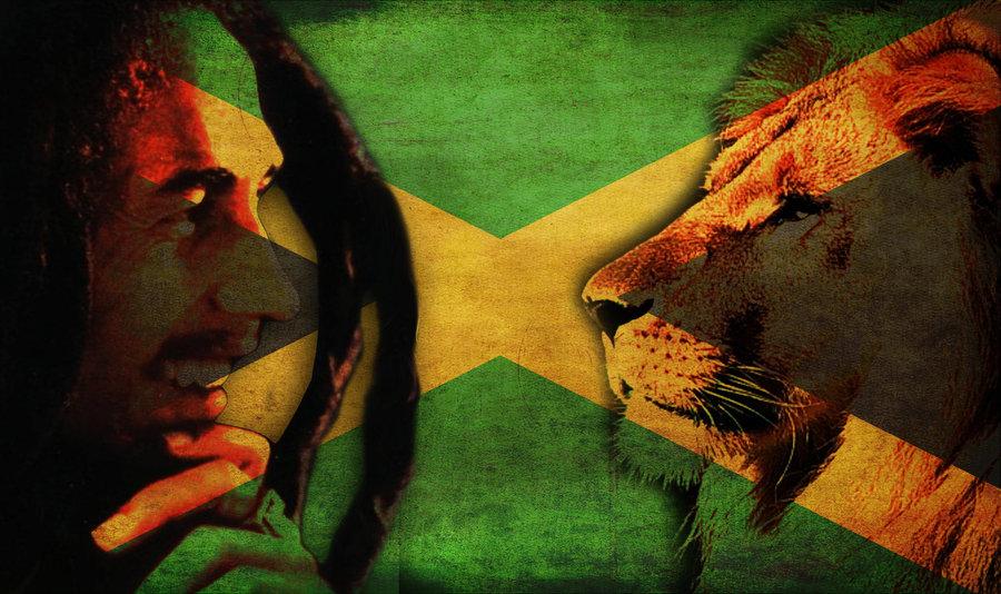 Bob Marley and Lion Wallpaper