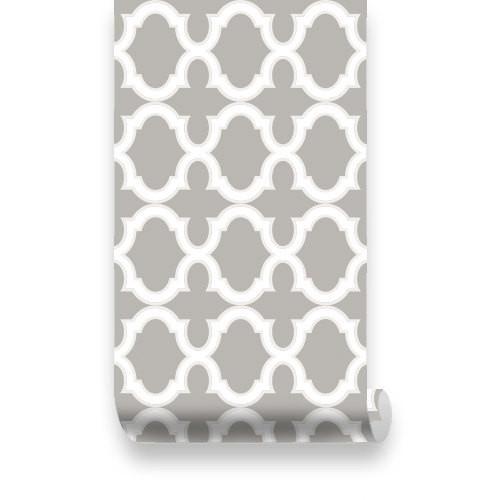 Phillip Jeffries Simply Seamless Wallpaper: Gray Moroccan Wallpaper