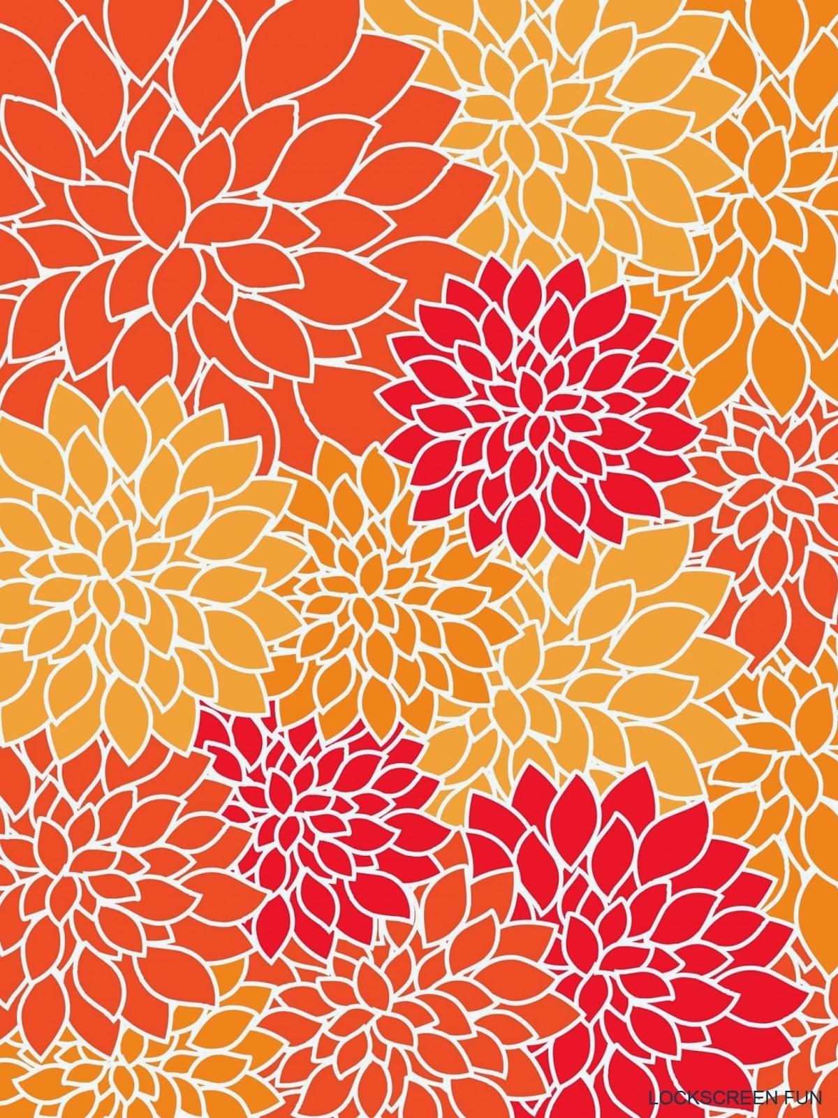 Free Download Flower Print Ipad Mini Background Wallpaper Freejpg