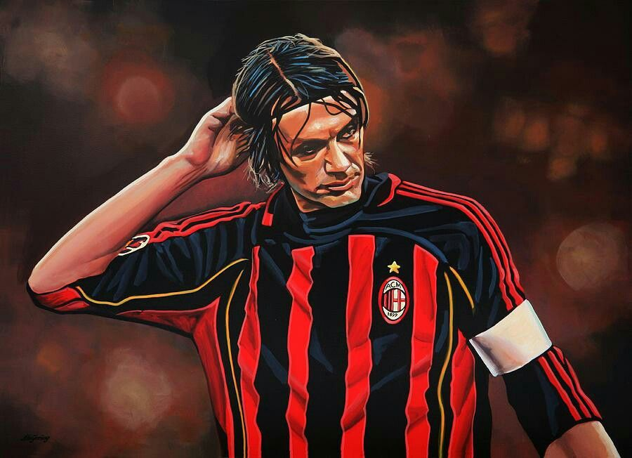 Paolo Maldini cartoon wallpaper AC Milan Paolo maldini Sports 900x652