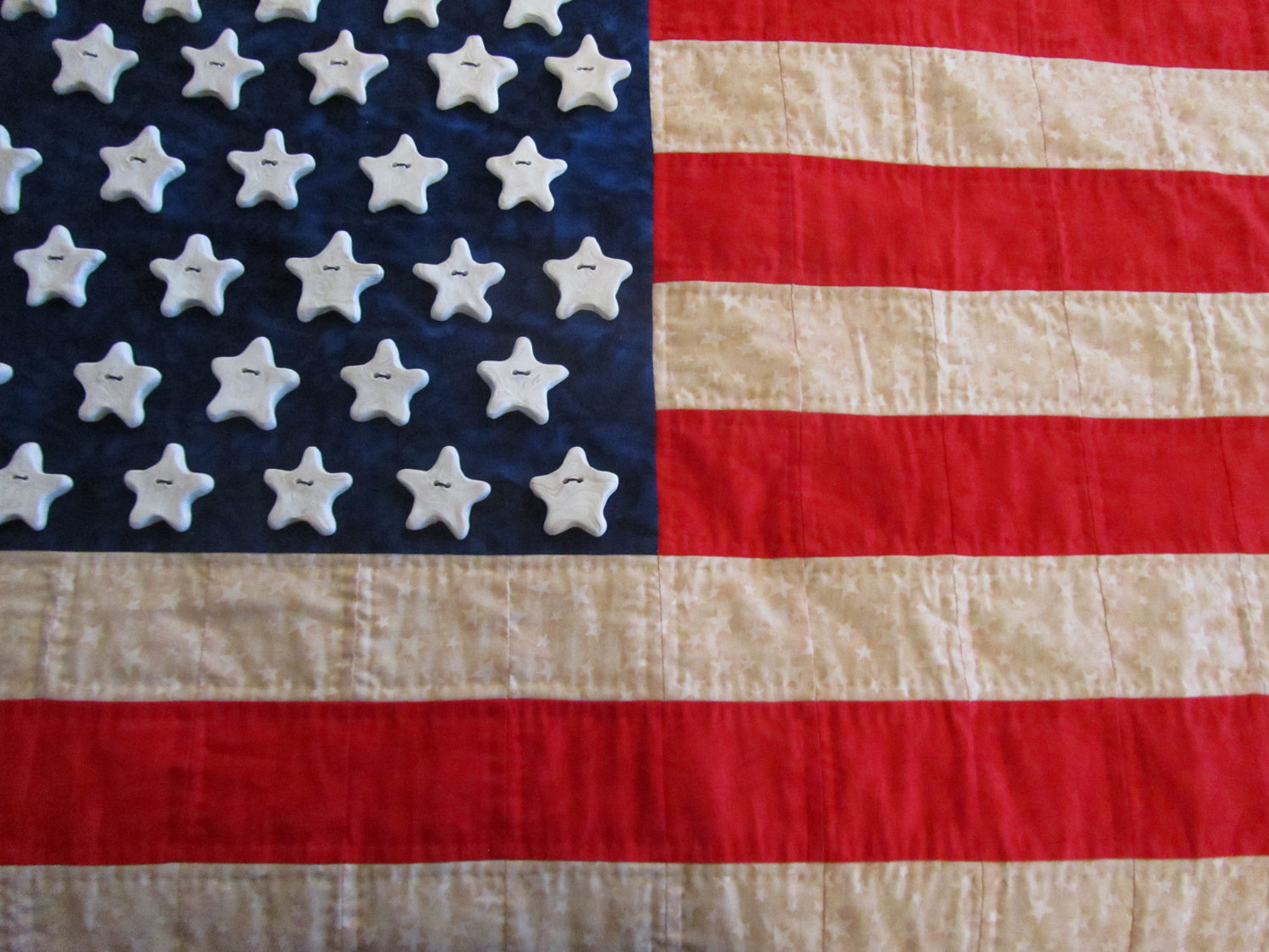 Flag Quilted Heirloom Primitive Wall hanging OOAK hand made 1500x1125